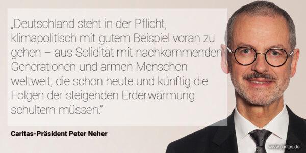 Statement von Caritas-Präsident Peter Neher
